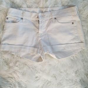 White denim 7 for all man kind shorts